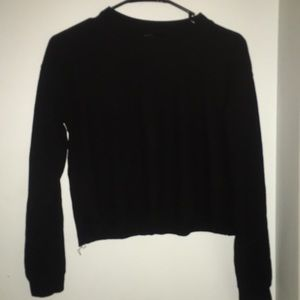 Forever 21 Black Knit Cropped Sweater